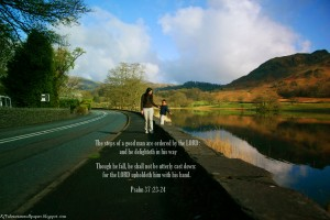 Psalm 37:23-24 – Firm the Steps Wallpaper