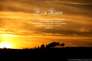 Isaiah 53:5 – By His Wounds We Are Healed Wallpaper