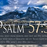 Psalm 57:3 – He Saves Me Wallpaper Christian Background