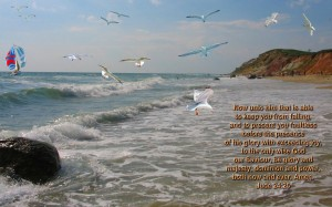 Jude 1:24-25 – Only Wise God Our Saviour Wallpaper