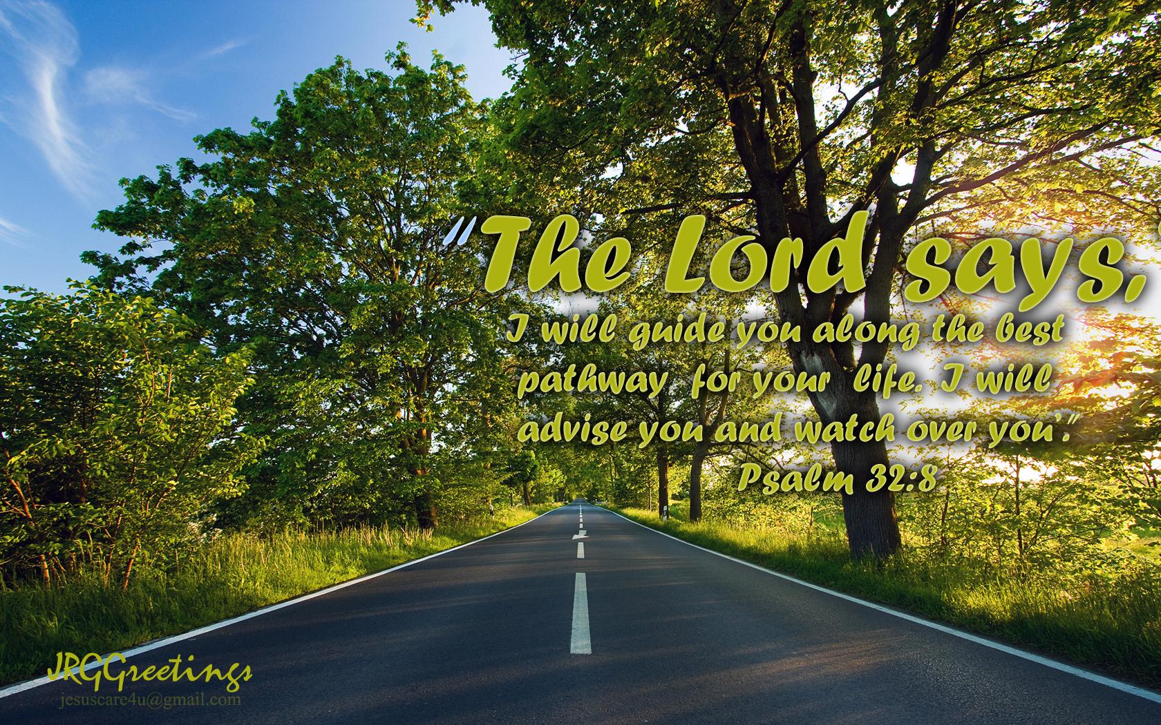 Psalm 32:8 - With Loving Eye Wallpaper - Christian