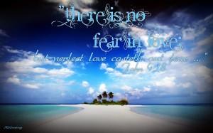 1 John 4:18 – Perfect Love Drives Out Fear Wallpaper
