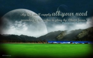 Philippians 4:19 – God the Provider Wallpaper