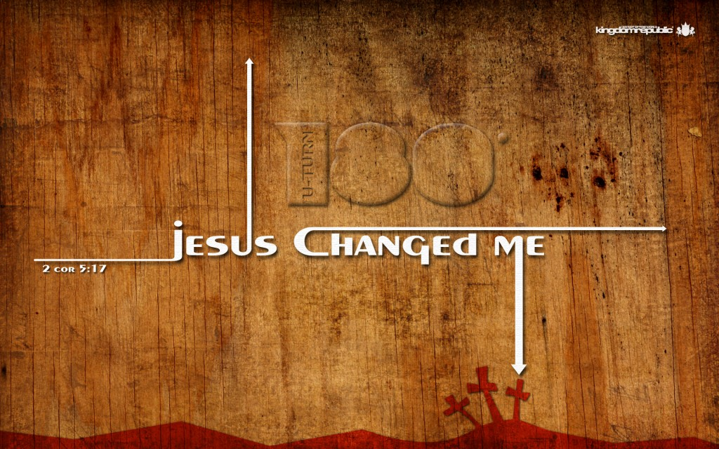 Jesus Changed Me christian wallpaper free download. Use on PC, Mac, Android, iPhone or any device you like.
