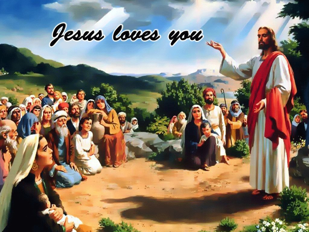 Jesus Loves You christian wallpaper free download. Use on PC, Mac, Android, iPhone or any device you like.