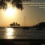 Job 12:22 – Deep Things Wallpaper Christian Background