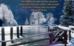 Psalm 27:1 – Whom Shall I Fear? Wallpaper