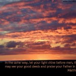 Matthew 5:16 – Glorify Your Father in Heaven Wallpaper Christian Background