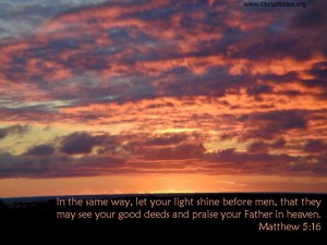 Matthew 5:16 – Glorify Your Father in Heaven Wallpaper
