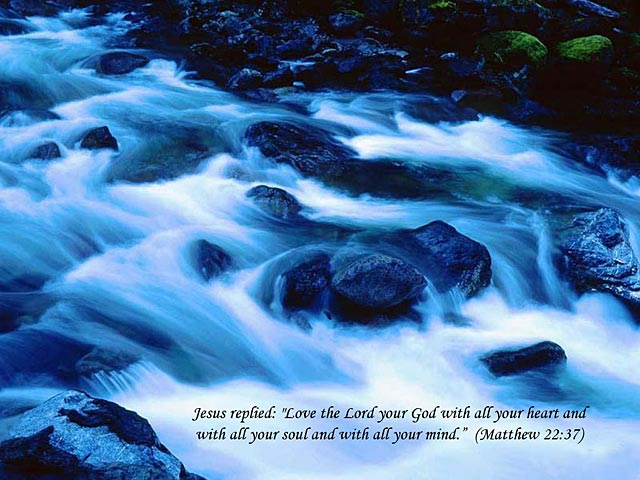 Matthew 22:37 – Love The Lord christian wallpaper free download. Use on PC, Mac, Android, iPhone or any device you like.