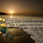 Isaiah 49:15-16 – I Will Not Forget You Wallpaper Christian Background