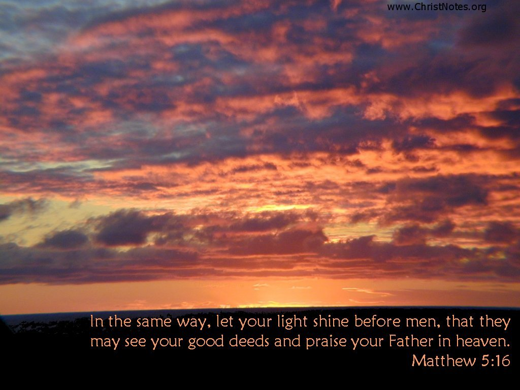 Matthew 5:16 – Jesus Shine Us His Light christian wallpaper free download. Use on PC, Mac, Android, iPhone or any device you like.