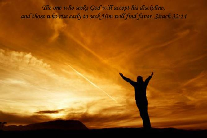 Sirach 32:14 – God's Will christian wallpaper free download. Use on PC, Mac, Android, iPhone or any device you like.