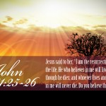 John 11:25-26 – Just Keep Believing Wallpaper Christian Background