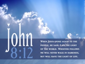 John 8:12 – Light of the World Wallpaper