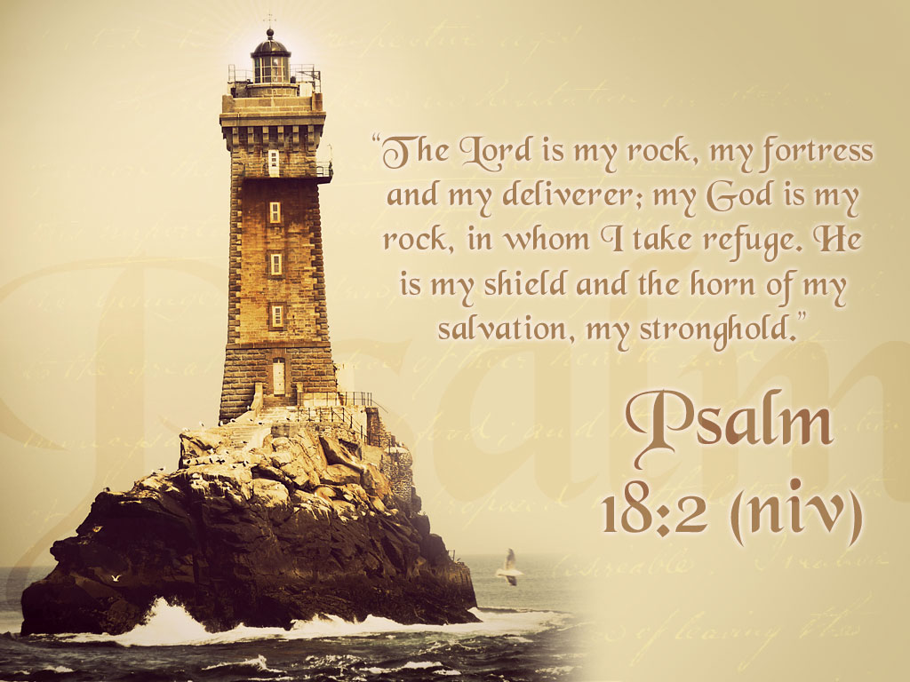 Psalm 18:2 – God Is My Everything christian wallpaper free download. Use on PC, Mac, Android, iPhone or any device you like.