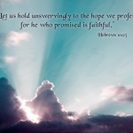 Hebrews 10:23 – Faithful Promise Wallpaper Christian Background