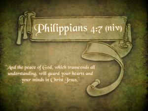 Philippians 4:7 – Peace Of God Wallpaper