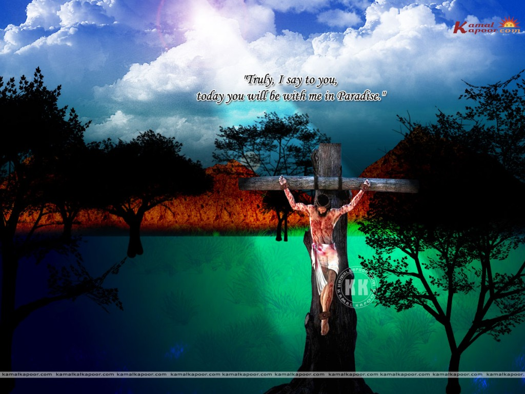 Jesus Paradise christian wallpaper free download. Use on PC, Mac, Android, iPhone or any device you like.