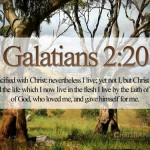 Galatians 2:20 – I Live By Faith Wallpaper Christian Background