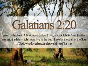 Galatians 2:20 – I Live By Faith Wallpaper