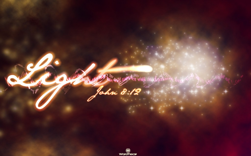 John 8:12 -Light Of Life christian wallpaper free download. Use on PC, Mac, Android, iPhone or any device you like.