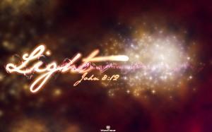 John 8:12 -Light Of Life Wallpaper