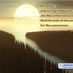 Psalm 2:8 – Your Possession Wallpaper Christian Background