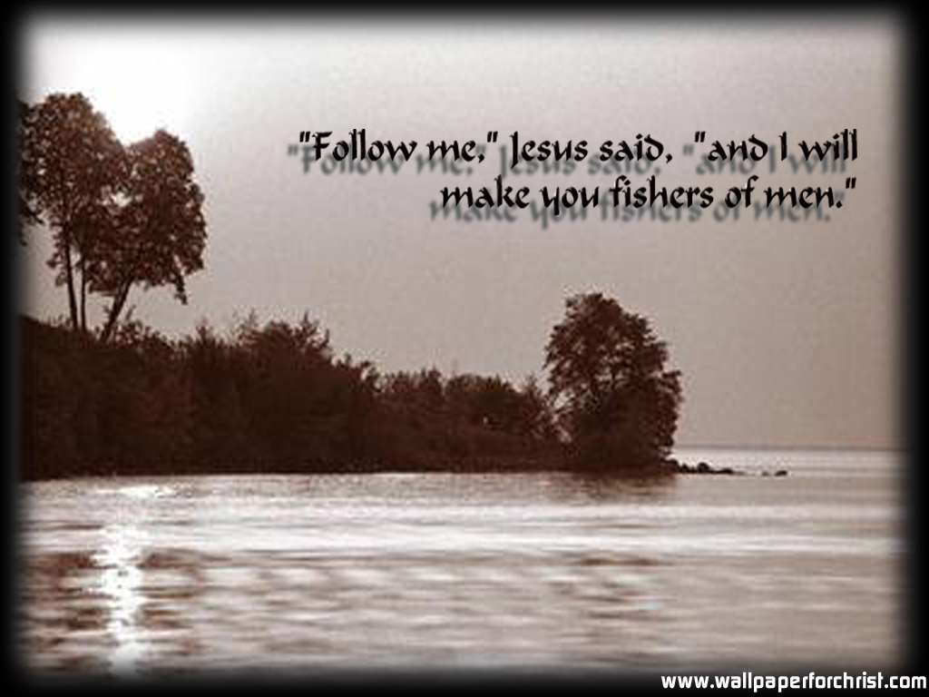 Matthew 4:19 – Fishers of Men christian wallpaper free download. Use on PC, Mac, Android, iPhone or any device you like.