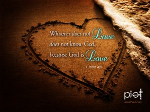 1 John 4:8 – God Is Love Wallpaper