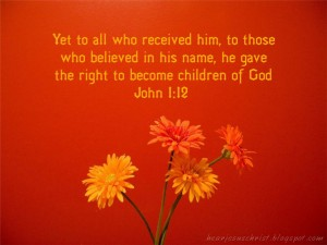 John 1:12 – Believed In His Name Wallpaper
