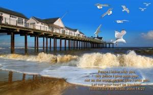 John 14:22 – My Peace I Give You Wallpaper