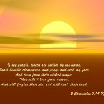 2 Chronicles 7:14 – Humble and Pray Wallpaper Christian Background