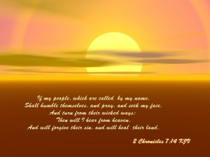 2 Chronicles 7:14 – Humble and Pray Wallpaper