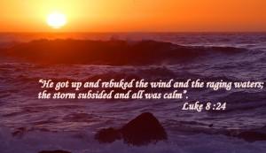 Luke 8:24 – Raging Waters Wallpaper
