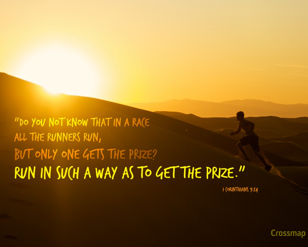 1 Corinthians 9:24 – The Race Of Life christian wallpaper free download. Use on PC, Mac, Android, iPhone or any device you like.