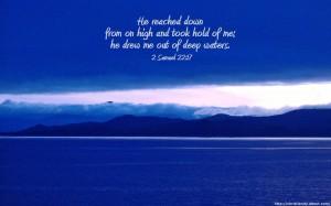 2 Samuel 22:17 – Deep Waters Wallpaper