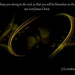 1 Corinthians 1:8 – Keep you Strong Wallpaper Christian Background