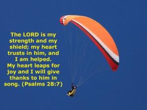Psalm 28:7 – My heart trusts in him Wallpaper
