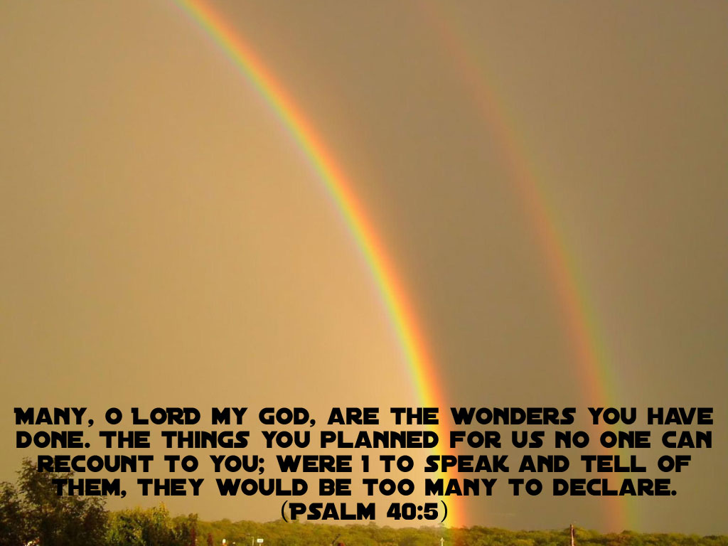 Psalm 40:5 – Wonders christian wallpaper free download. Use on PC, Mac, Android, iPhone or any device you like.