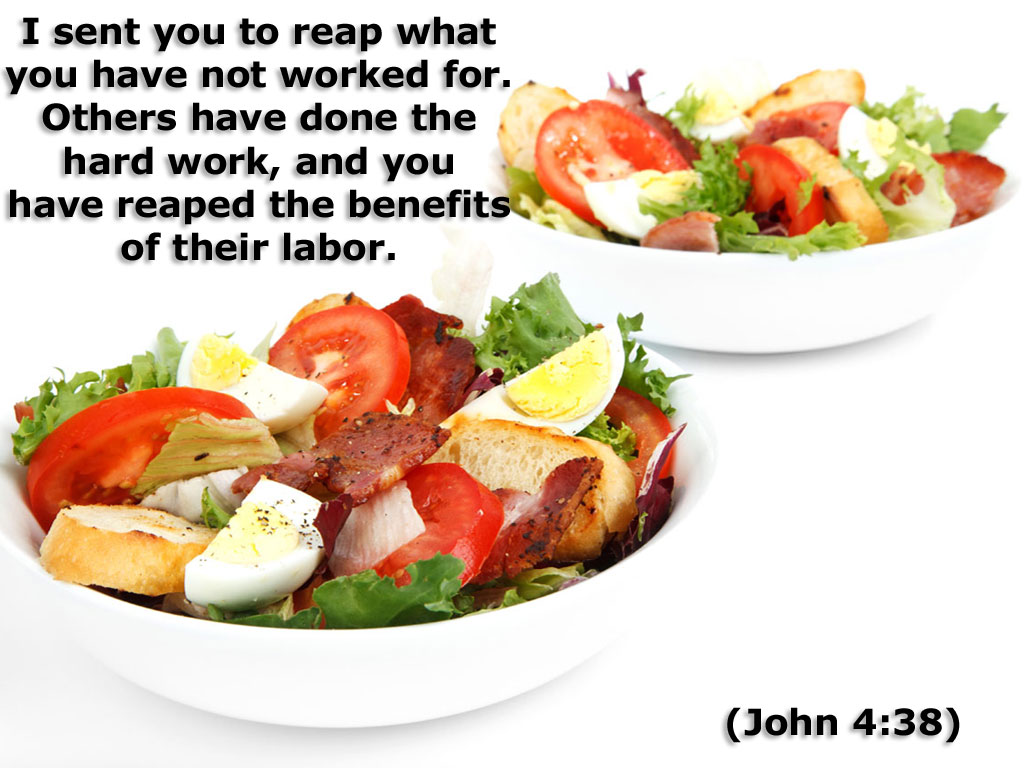 John 4:38 – Benefits of their Labor christian wallpaper free download. Use on PC, Mac, Android, iPhone or any device you like.