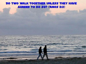Amos 3:3 – Walk together Wallpaper