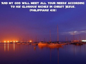 Philippians 4:19 – His Glorious riches Wallpaper