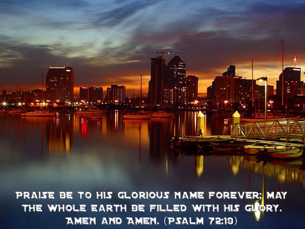 Psalm 72:19 – His Glorious name christian wallpaper free download. Use on PC, Mac, Android, iPhone or any device you like.