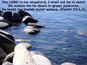 Psalm 23:1-2 – My Shepherd Wallpaper
