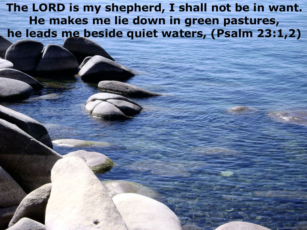 Psalm 23:1-2 – My Shepherd christian wallpaper free download. Use on PC, Mac, Android, iPhone or any device you like.