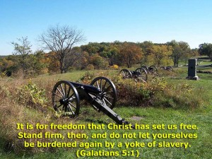 Galatians 5:1 – For Freedom Wallpaper