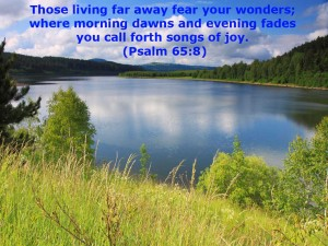 Psalm 65:8 – Songs of Joy Wallpaper