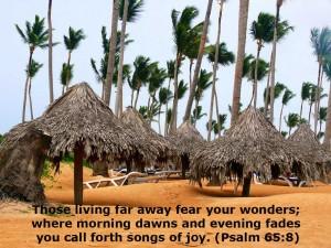 Psalm 65:8 – Wonders Wallpaper