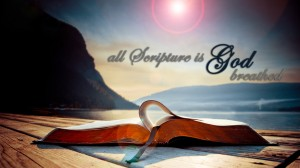 2 Timothy 3:16-17 – All Scripture is God-breathed Wallpaper